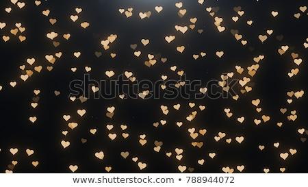 Or glitter coeur noir casino Photo stock © SArts