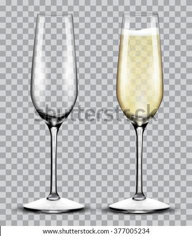 Flüt şampanya iki karanlık şarap Stok fotoğraf © pressmaster