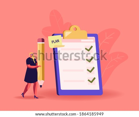 A businesswoman presenting a clipboard. Stock photo © photography33