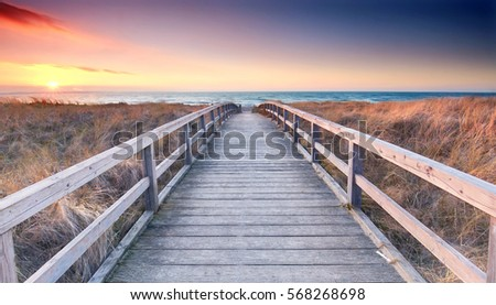 walkway to the sea Stock photo © chris2766