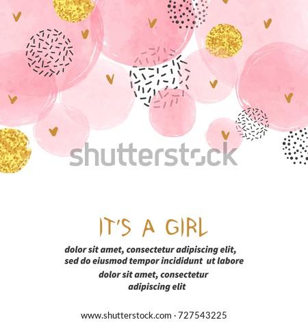 baba · közlemény · kártya · babakocsi · papír · lány - stock fotó © balasoiu