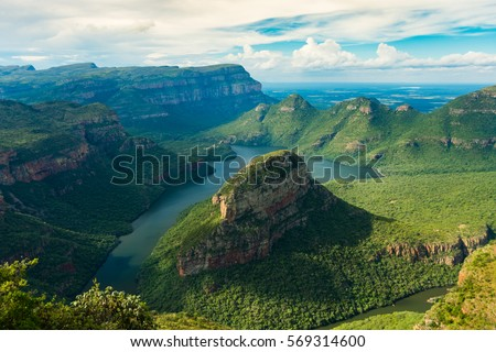 river in a canyon stock photo © iofoto