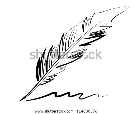 piśmie · wieczne · pióro · papieru · czarny · atramentu · edukacji - zdjęcia stock © adrian_n