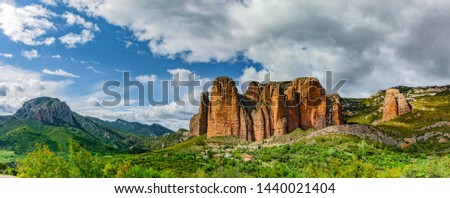 hills in Riglos Stock photo © pedrosala