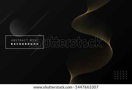 elegant dots circle pattern in black and gold colors Stock photo © SArts