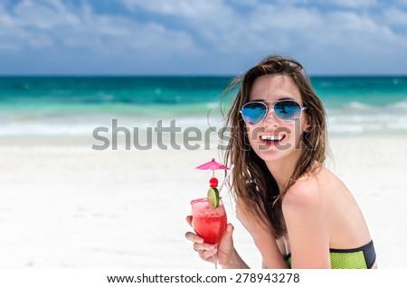 Mexikó kilátás tengerpart víz nyár pálma Stock fotó © boggy