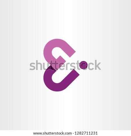 g and j letter gj logo icon vector purple symbol Stock photo © blaskorizov