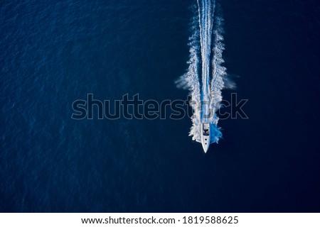 Barcos lago linha doca água madeira Foto stock © chris2766