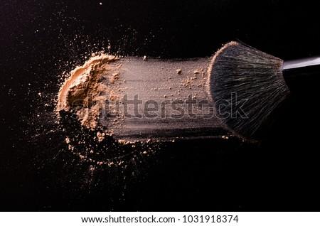 Escove pó cara moda fundo beleza Foto stock © shutswis