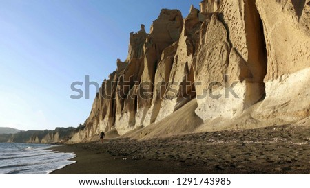 Noir volcanique plage paysage océan Photo stock © meinzahn