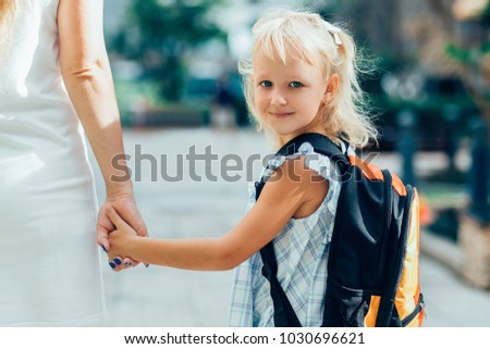 two elementary students are going to school Stock photo © Lopolo