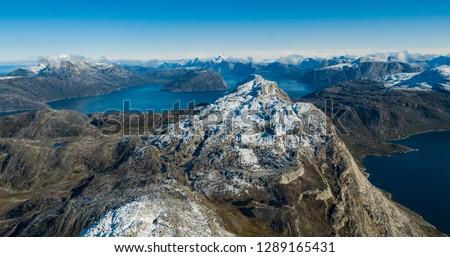Natuur berg landschap antenne afbeelding tonen Stockfoto © Maridav