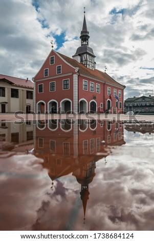 ратуша здании рынке квадратный Латвия небе Сток-фото © borisb17