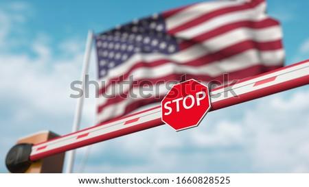 American Border Security No Entry Sign Stock photo © patrimonio