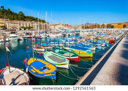 View of Old Port of Nice with yachts, France Stock photo © dmitry_rukhlenko