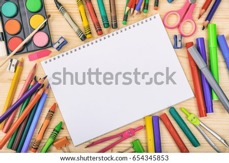 Caption Back to School, Backpacks and Stationery Stock photo © robuart
