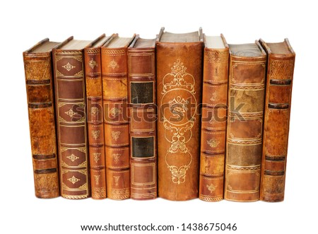 Old Antique Books On The White Isolated Background Stok fotoğraf © Epitavi