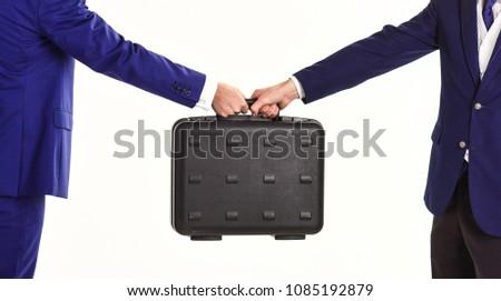 Business black briefcase stock photo © shutswis