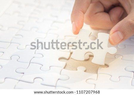 Puzzle solution concept Stock photo © make