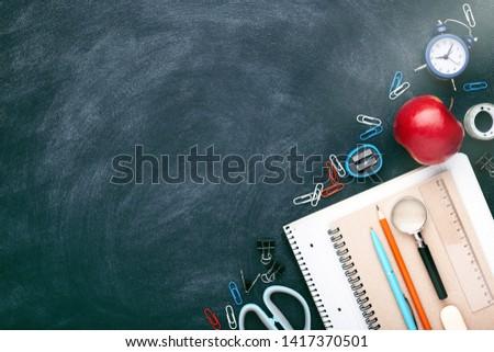 terug · naar · school · klasse · studie · tabel · illustratie - stockfoto © netkov1