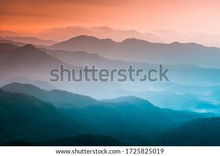 山 · カバー · 午前 · 霧 · 自然 · 風景 - ストックフォト © kotenko