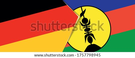 Germany and New Caledonia Flags  Stock photo © Istanbul2009