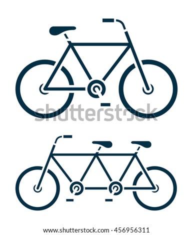 Kettő különböző bicikli ikonok egy tandem Stock fotó © adrian_n
