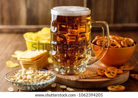 Beer and snacks Stock photo © racoolstudio