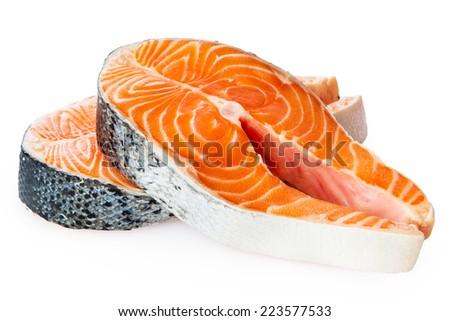 生 鮭 ステーキ 材料 料理 先頭 ストックフォト © YuliyaGontar