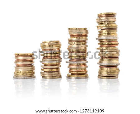 Stack Of Coins Isolate On A White Background Photo stock © Zerbor