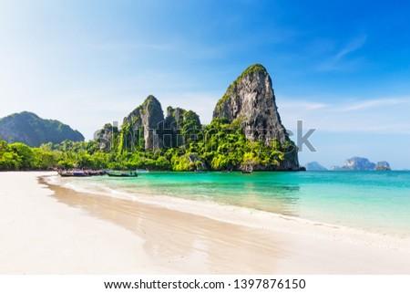 Playa krabi Tailandia panorama tradicional largo Foto stock © bloodua