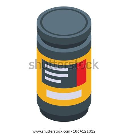 Gyógyszer vitamin drogok sport izometrikus ikon Stock fotó © pikepicture