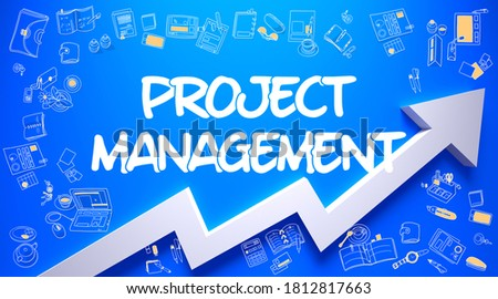 Business Processes Drawn On Blue Surface Foto stock © Tashatuvango