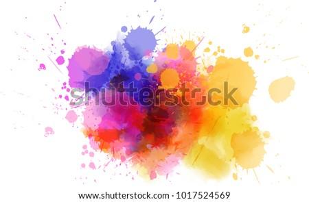 Colorido aquarela agitar-se pintar efeito projeto Foto stock © SArts