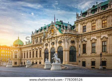belvedere palace in vienna austria stock photo © andreykr