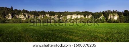 formação · rochosa · doze · árvores · campo · outono · plantas - foto stock © meinzahn