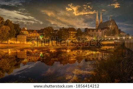 Stockfoto: Kerk · architectuur · toren · Duitsland · mijlpaal
