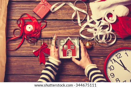 小 · 白 · おもちゃ · 家 · 手 · 建物 - ストックフォト © -baks-