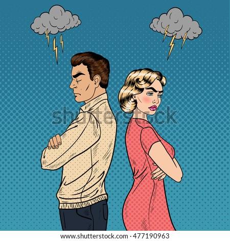 Upset couple standing with arms crossed Stock photo © wavebreak_media