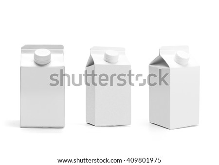 Blank milk carton Stock photo © magraphics