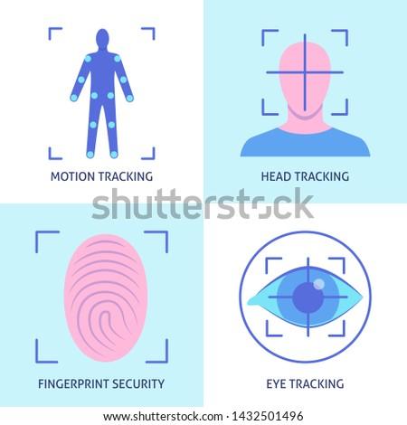 eye tracking technology concept vector illustration stock photo © rastudio