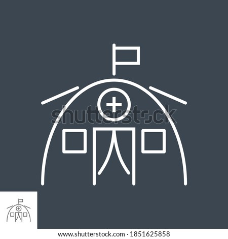 Medical tent related vector thin line icon. Stock photo © smoki
