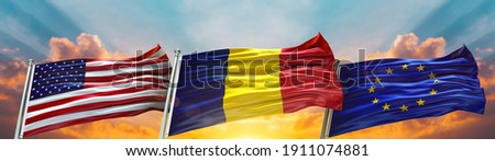 3D rendering of the national flag of Chad waving in the wind Stock photo © butenkow