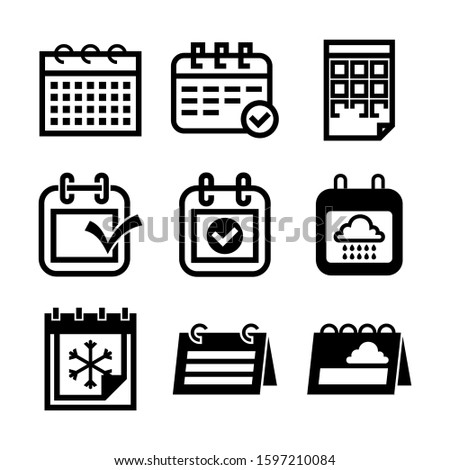 Simple black calendar icon with 24 date isolated on white Stock photo © evgeny89