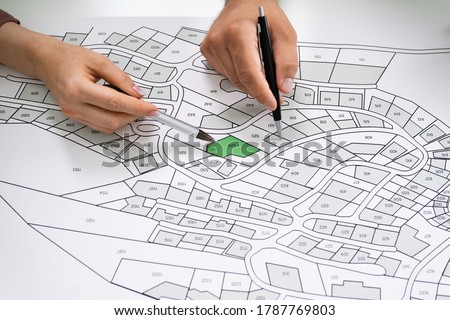 Cadastre Land Map Stock photo © AndreyPopov