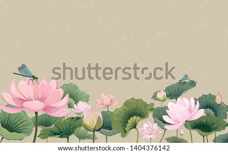beautiful lotus in a pond stock photo © pinkblue