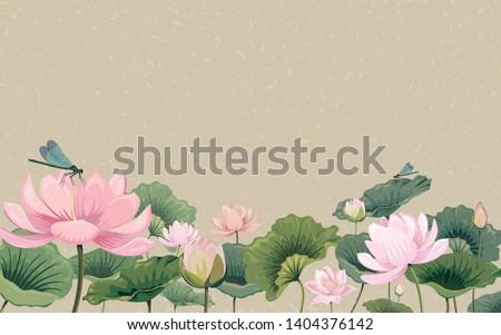 Gyönyörű lótusz tavacska víz természet levél Stock fotó © pinkblue