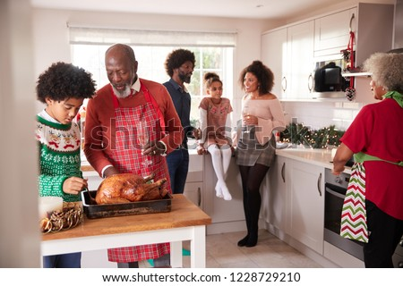 Family gathered in kitchens Stock photo © photography33
