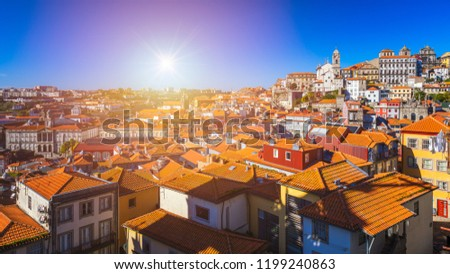 oude · stad · Portugal · rivier · brug · stad - stockfoto © neirfy