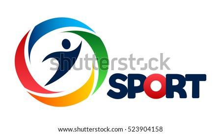 Logo sport sportos klub akadémia sportok Stock fotó © netkov1